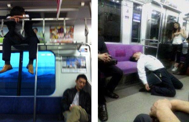 Falling Asleep On The Japanese Tube 2