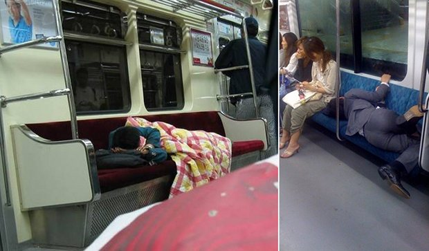 Falling Asleep On The Japanese Tube 4