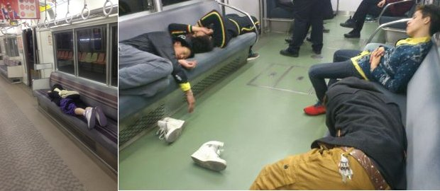 Falling Asleep On The Japanese Tube 7