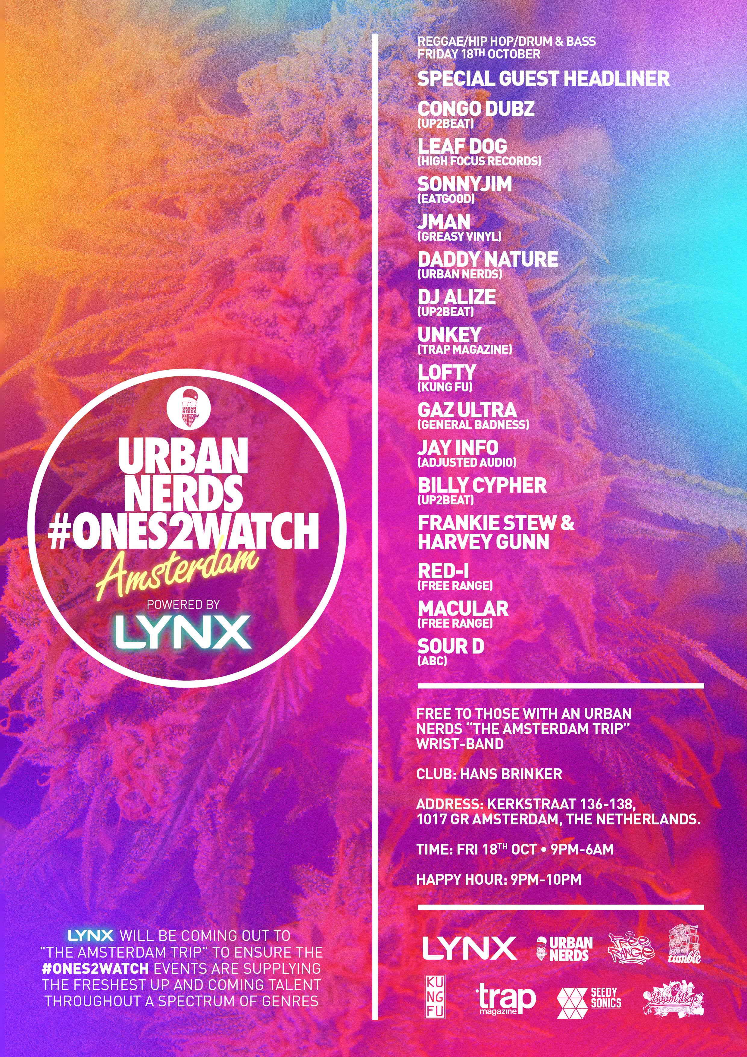 Ones2Watch 18th Oct Amsterdam - Urban Nerds
