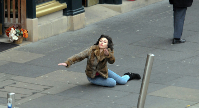 Scarlett Johnannson Falling Over