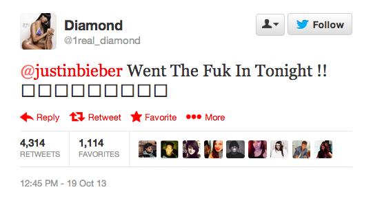 Justin Bieber Strippet Tweet 2