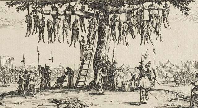 How capital punishment was handed down to criminals in england in the 18th century