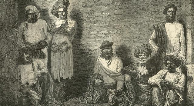 Thuggee - India - Group of Thugs - Aurangabad prison 1869
