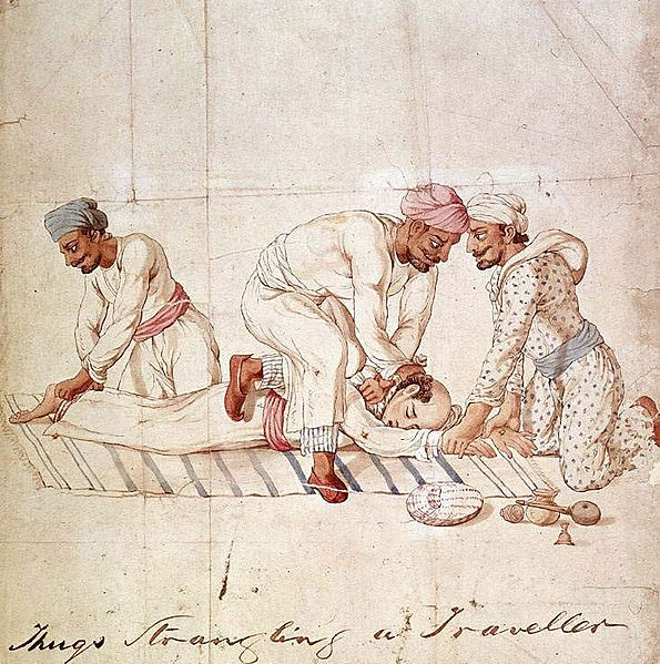 Thuggee - India - Group of Thugs - Early 19th Century Drawing