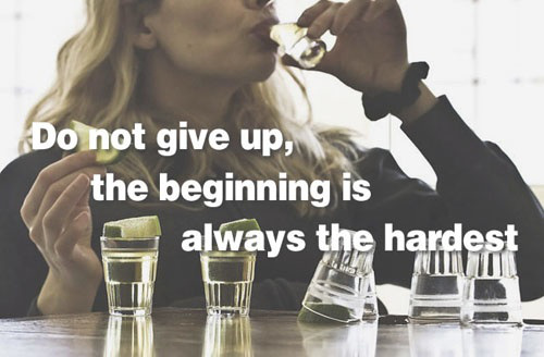 drinking dont give up