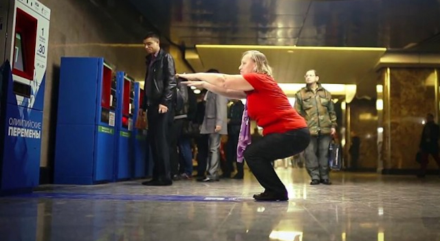 Russian Squats Subway