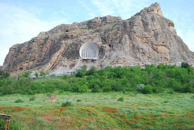 Soviet Architecture - Mount Suleiman museum - Kyrgyzstan cave museum