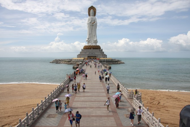 Tallest statues in the world china guan yin of the south sea of