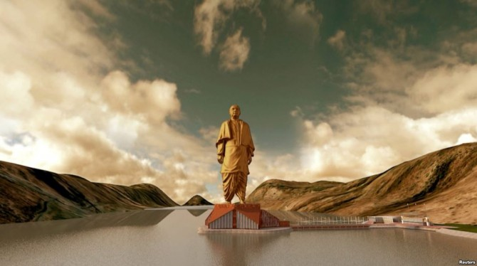 Tallest Statues In The World - India - Sardar Vallabhbhai Patel State of Unity