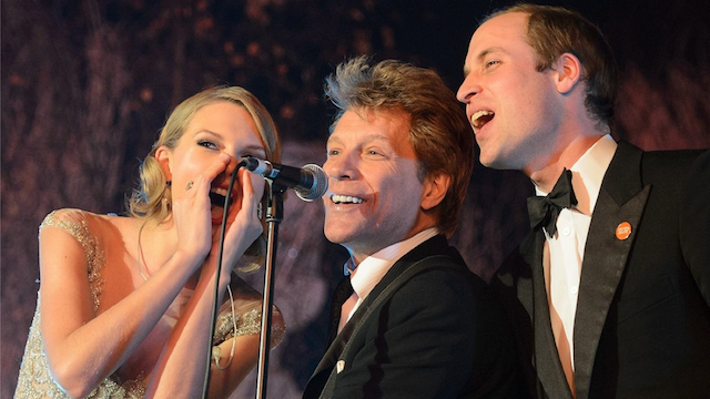Taylor Swift Prince William And Bon Jovi