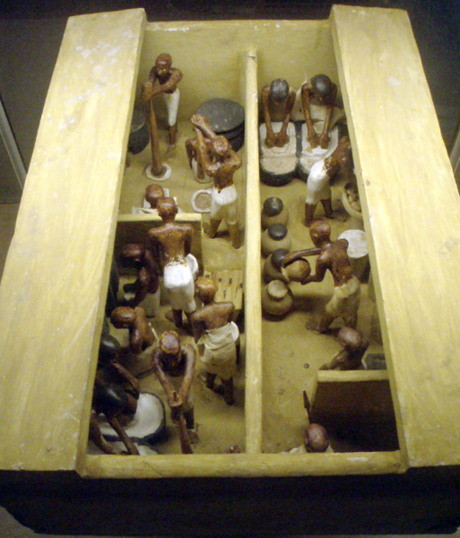 The History of beer - Egypt - funerary model of a bakery and brewery 2000BC