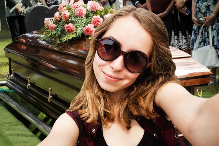 selfie funeral