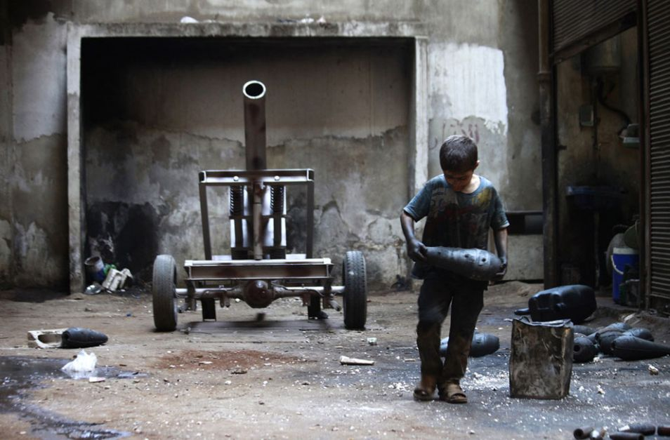 10yrold weapon factory syria