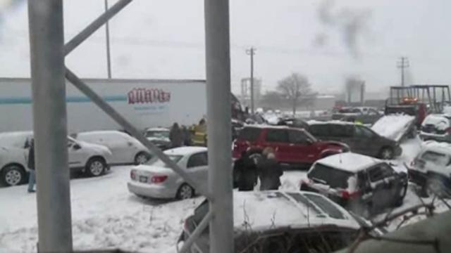 40 Car Pileup Wisconsin
