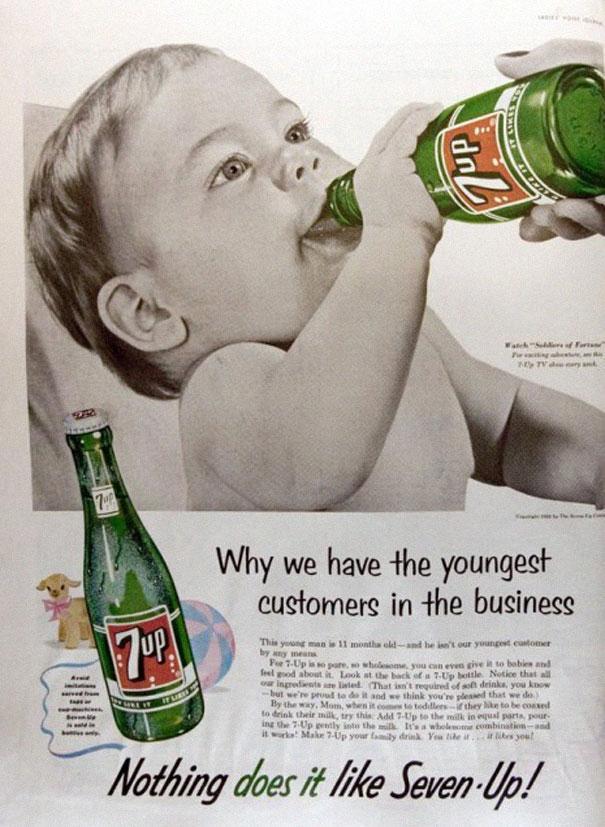 7up advert baby
