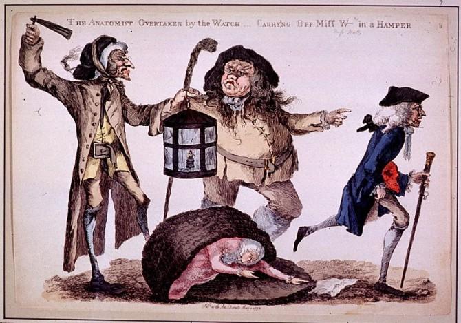 Body Snatchers - Resurrectionists - The Anatomist Overtaken by the Watch