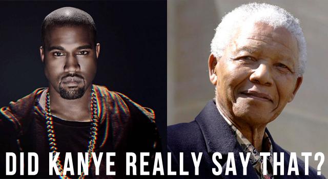 Kanye West Nelson Mandela