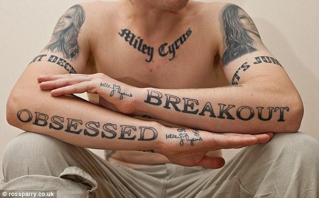 Miley Cyrus Fan Tattoos 1