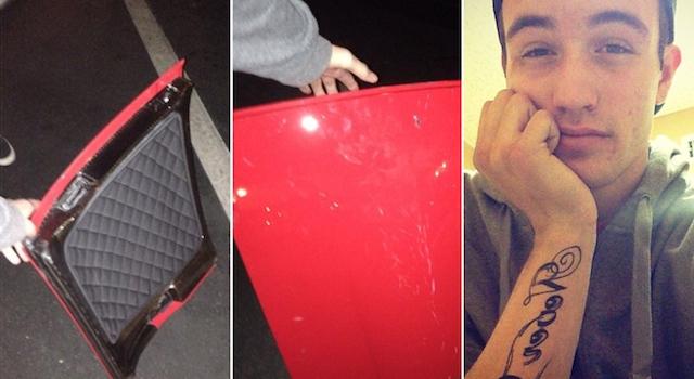 Paul Walker Car Roof Stolen