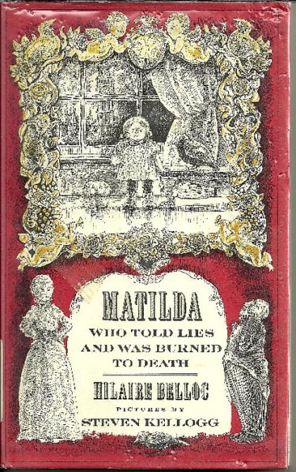 Weird Mental Book Covers - Matilda burned to death