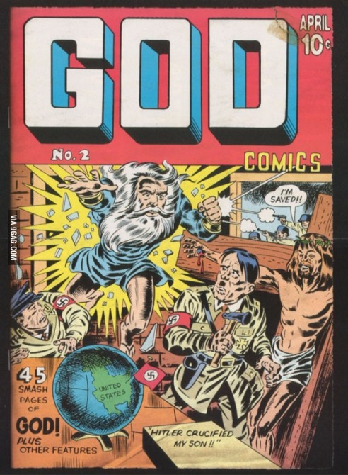 Weird Mental Book Covers - god and hitler