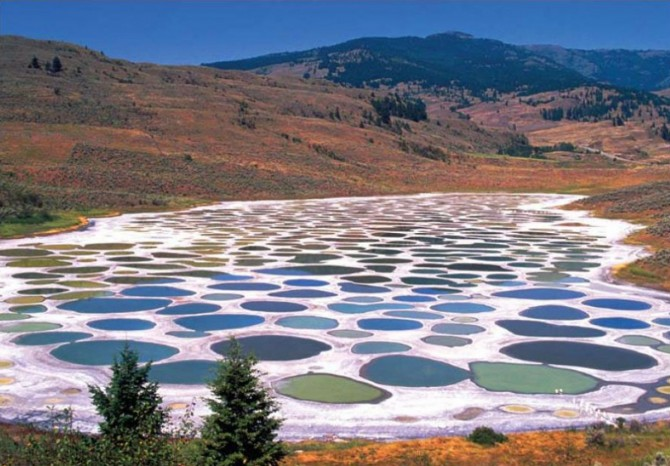 Weird Places - Spotted Lake - Klilkuk Blue and Green