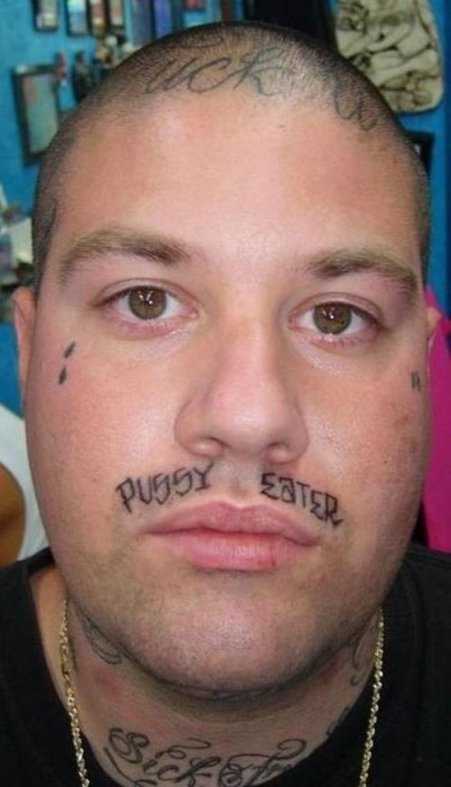 24cb1b8774696 PHOTOS: 31 Of The Worst Face Tattoos Of All Time – Sick Chirpse