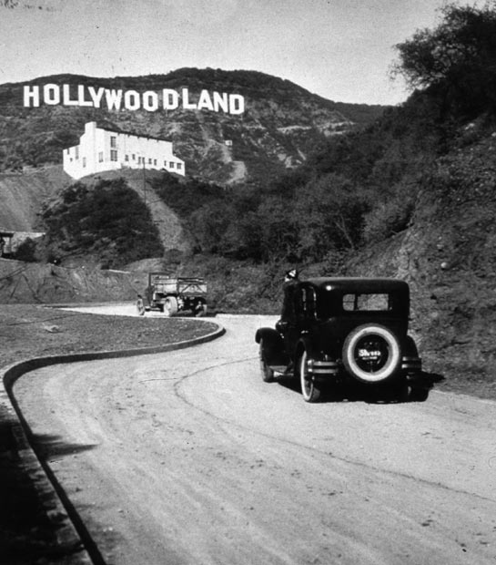 original hollywood sign in 1923