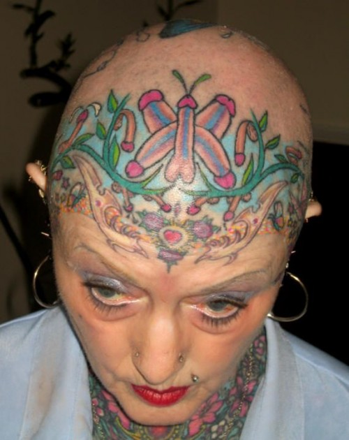 penis tattoo head