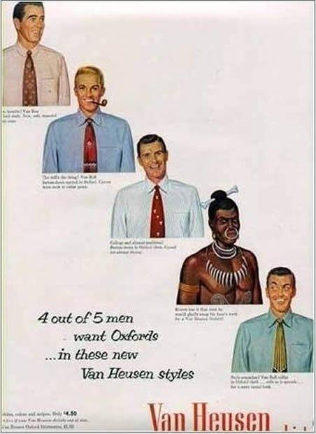 racist advert van heusen