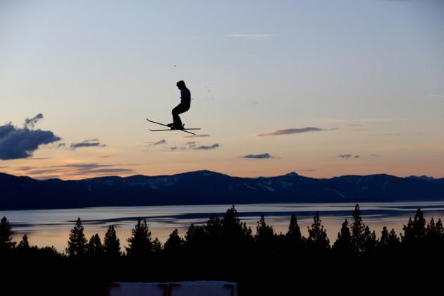 ski mid air