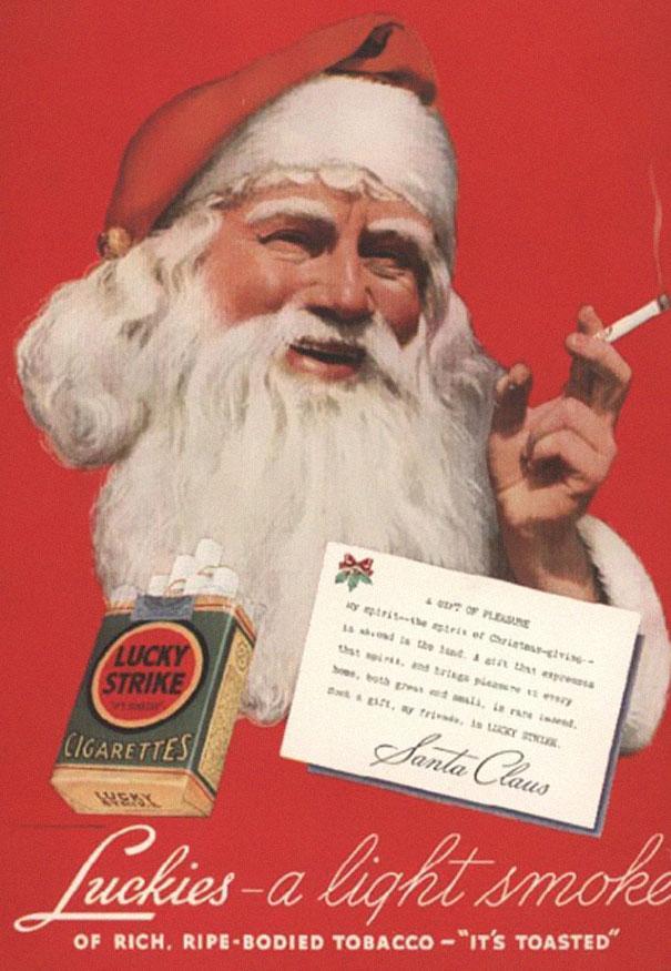 smoking santa advert