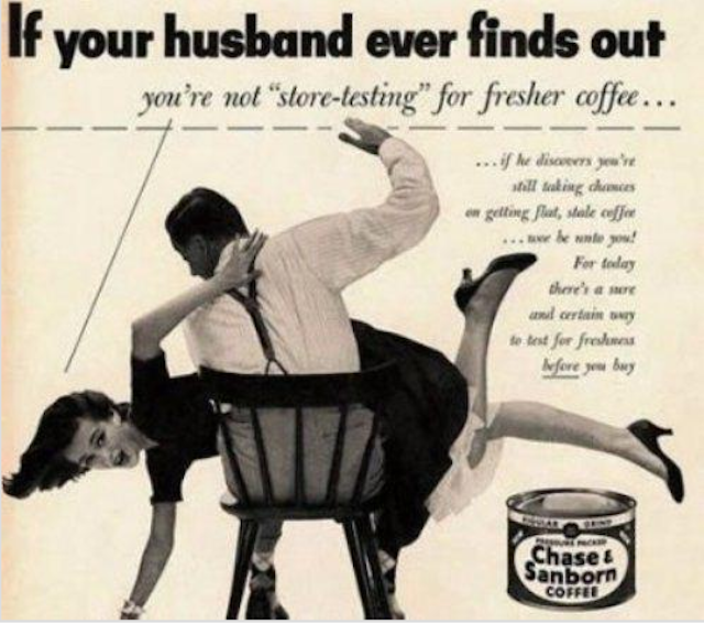 spank wife advert