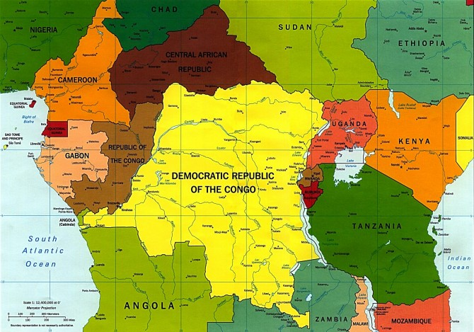 Central African Republic - map