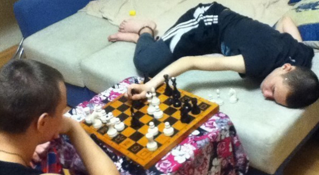 Chess With Drunk Guy