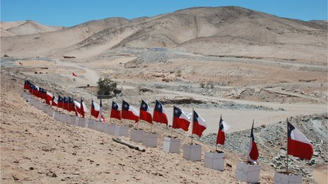 Chile Miners 33 - Flags