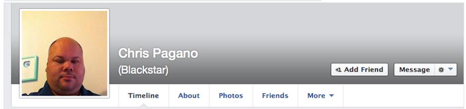 Chris Pagano Old Facebook