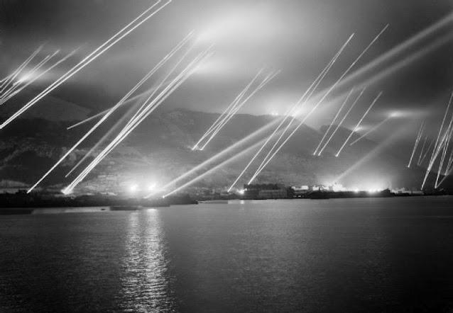 Historical Photos - Gibraltar Search Lights