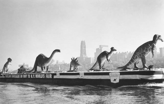 Historical Photos - Hudsin 1964 dinosaurs