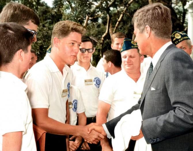 Historyical Photos - JFK and Bill Clinton