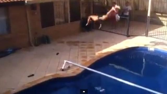 Insane Pool Backflip