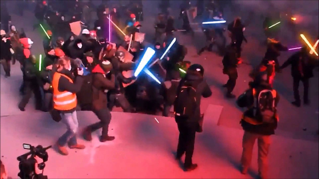 Lightsaber Battle Ukraine Riot