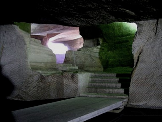 Longyou Grotto - Cave Complex - stairs and lines