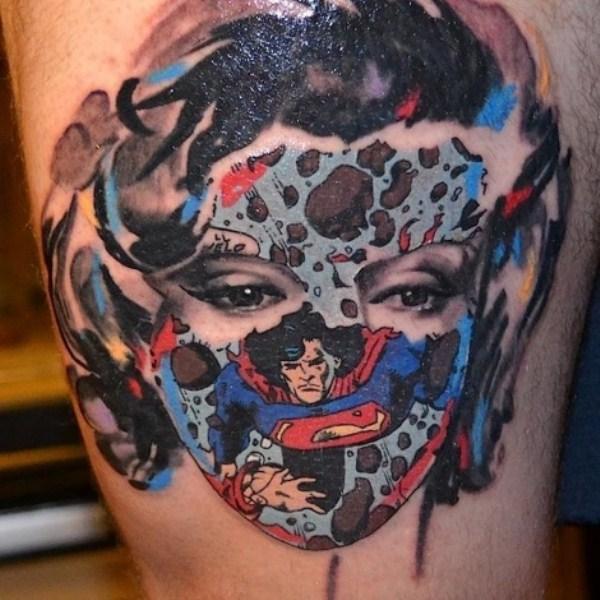 optical tattoos illusion tattoo monroe marilyn illusions 3d comic ass bad brain around superman cool mind illustion most leave amazing