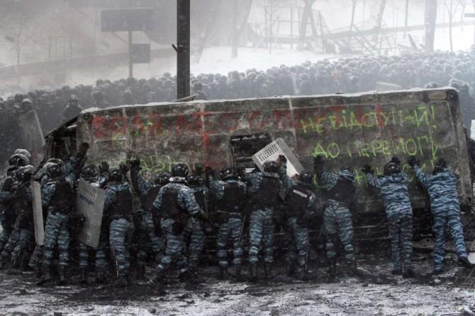 Ukraine Naked Protestor - Protest