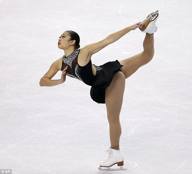 figure skater who fell twice during qualifiers and came