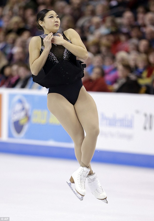 Female figure skaters and pantyhose