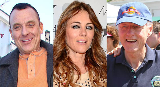 Bill Clinton Liz Hurley Tom Sizemore