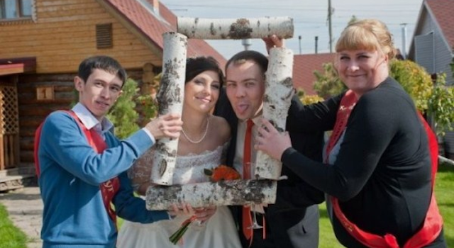 Bizarre Eastern European Wedding Photographs